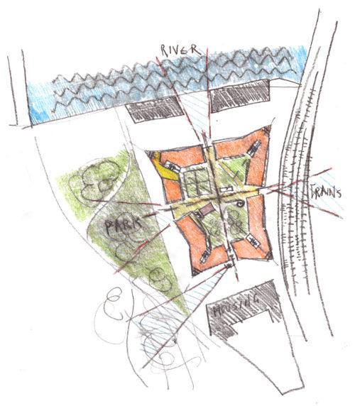 Gruner + Jahr headquarters: concept sketch
