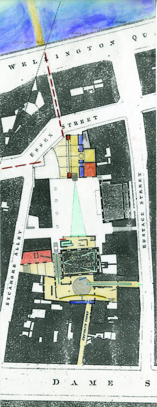 1847 Map Collage: 3 buildings in Temple Bar