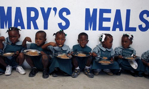 Positive staff feedback now funds school meals for disadvantaged children in Africa