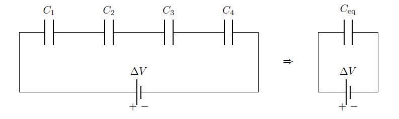 Condensatori in serie e in parallelo capacit for Generatore di piano