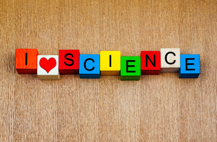 I Love Science - sign for discovery and knowledge