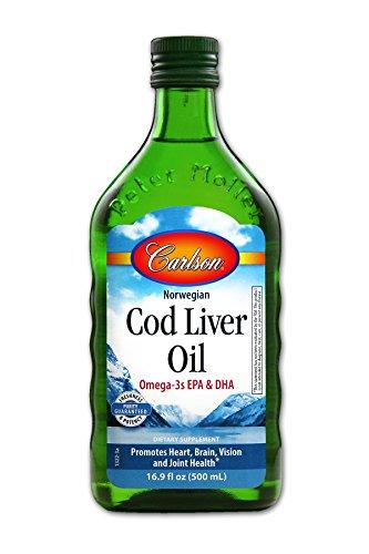 Carlson – Cod Liver Oil, Natural (16.9 fl oz, 500 ml)