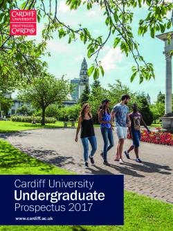 Cardiff University 2017-18