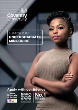 Coventry University 2017-18