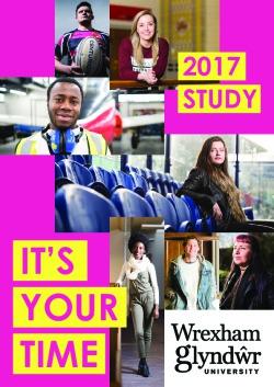 Glyndwr University 2017-18