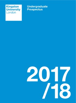 Kingston University 2017-18