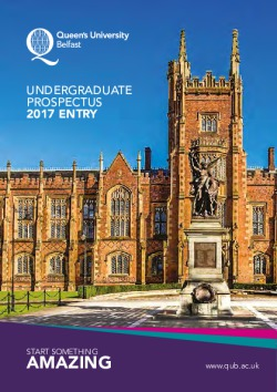 Queen\'s University of Belfast 2017-18