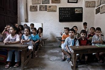 School in Fez, Marokko. Door Daniel Gasienica.