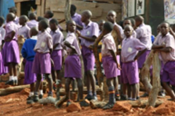 Speelkwartier op basisschool in Katosi