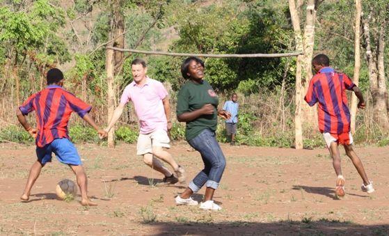 Voetballen in Malawi