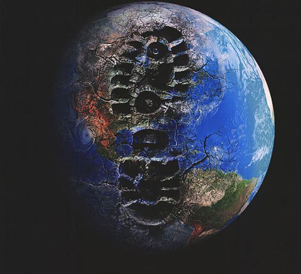 Aarde mens natuur tijdperk