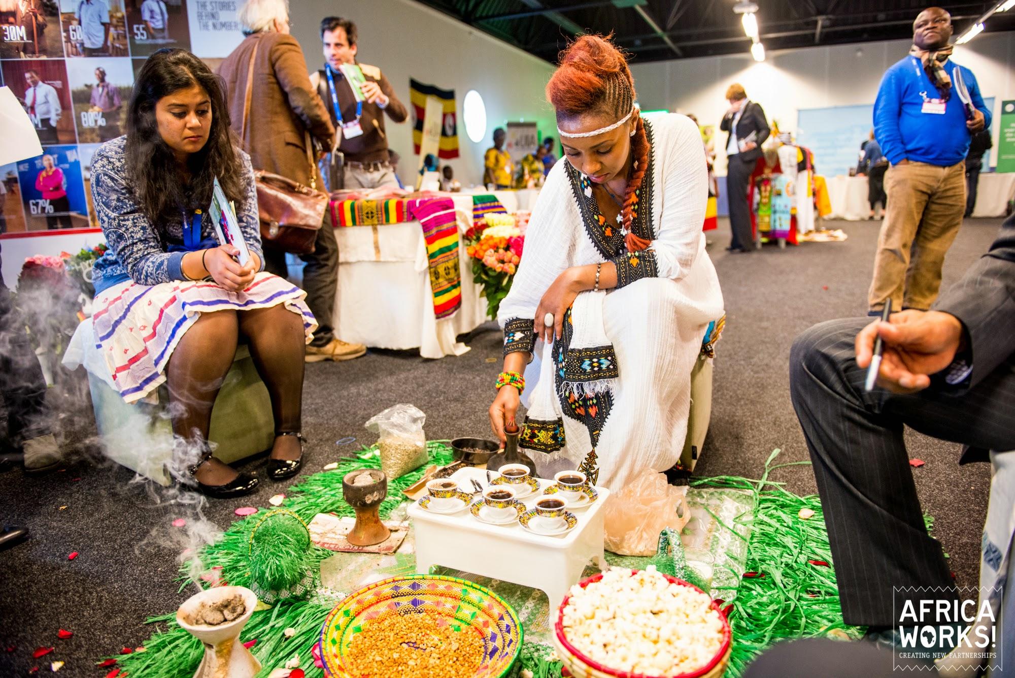 Zakendoen in Ethiopië, de Ethiopische stand tijdens Africa Works 2014