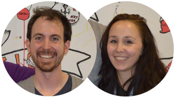 Koen Vredebregt (31) en Patricia van Polanen Petel (29), de initiatiefnemers van het Happy Planet Platform