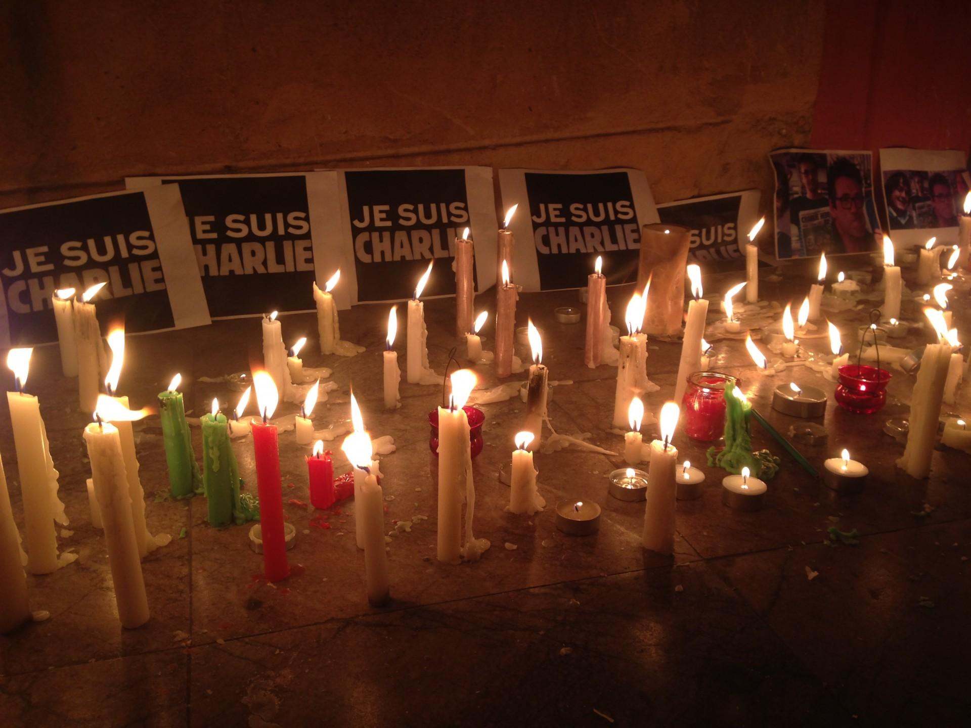 Herdenking slachtoffers in Rabat, Marokko