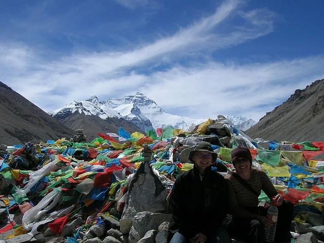 Bergbeklimmers op de Mount Everest