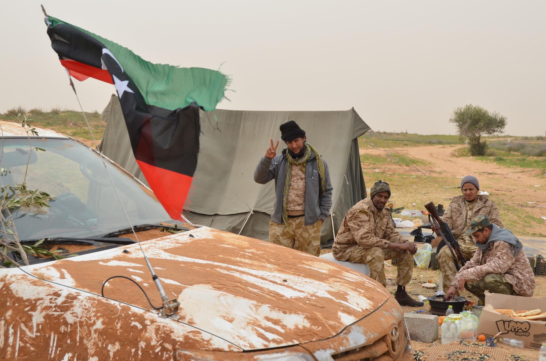 Milities in Libië. Foto: Gerbert van der Aa