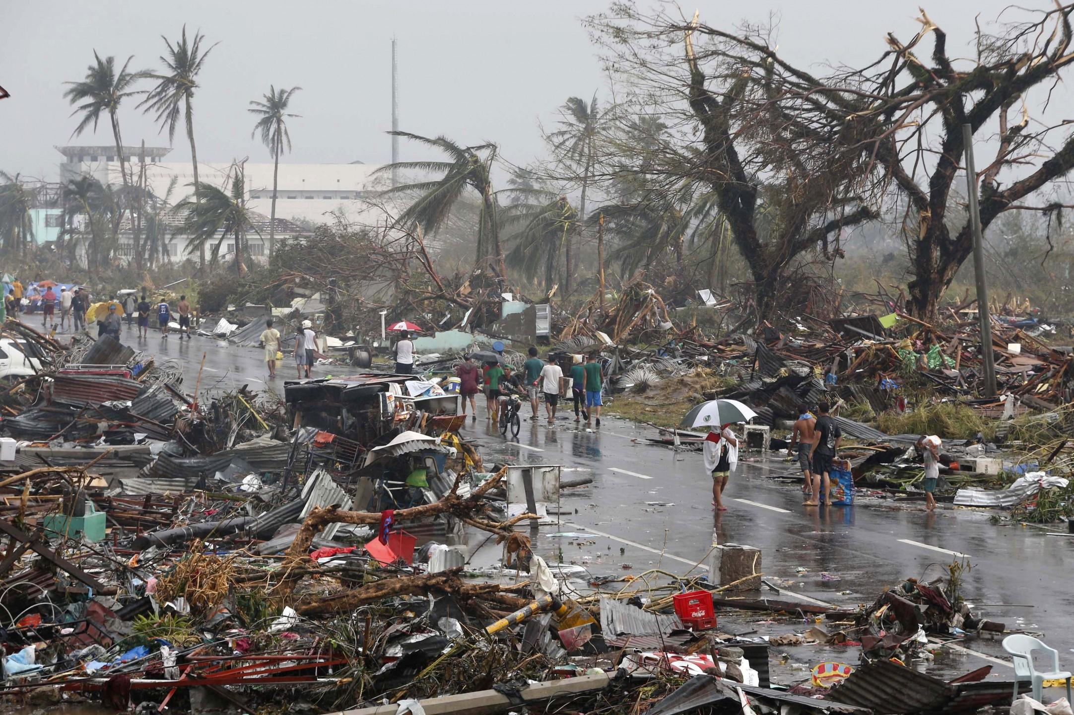 Tyfoon Haiyan verwoest de Filipijnen