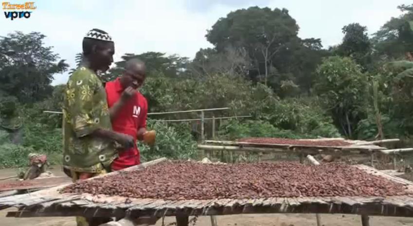 Cacaoboeren in Ivoorkust proeven voor het eerst chocolade