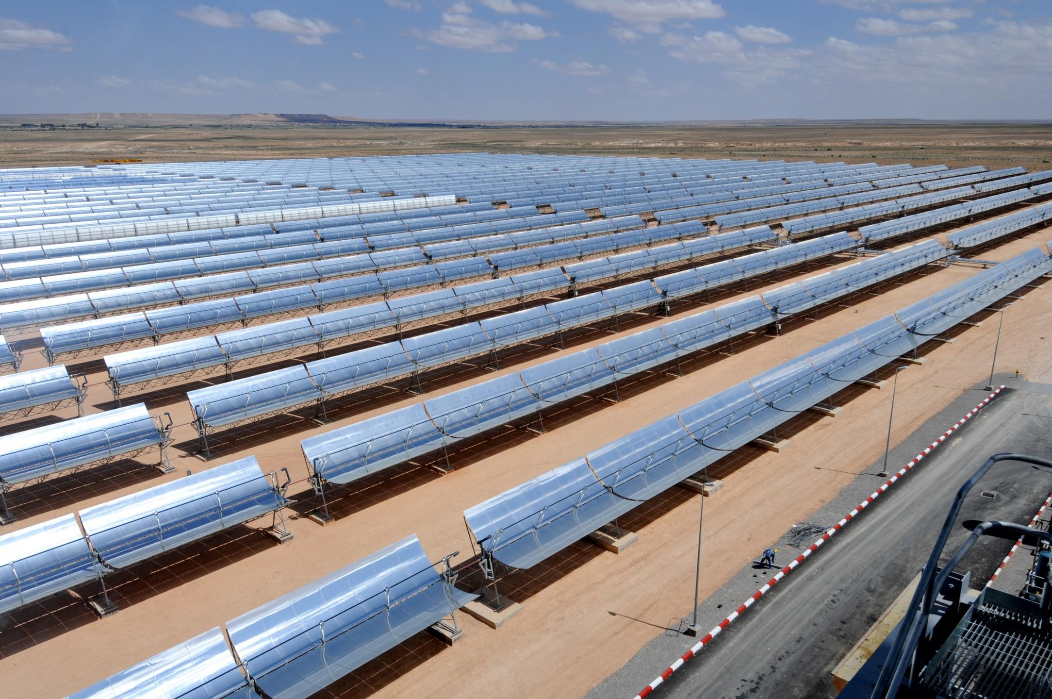 Zonne-energieproductie Ain Bni Mathar, World Bank Photo Collection