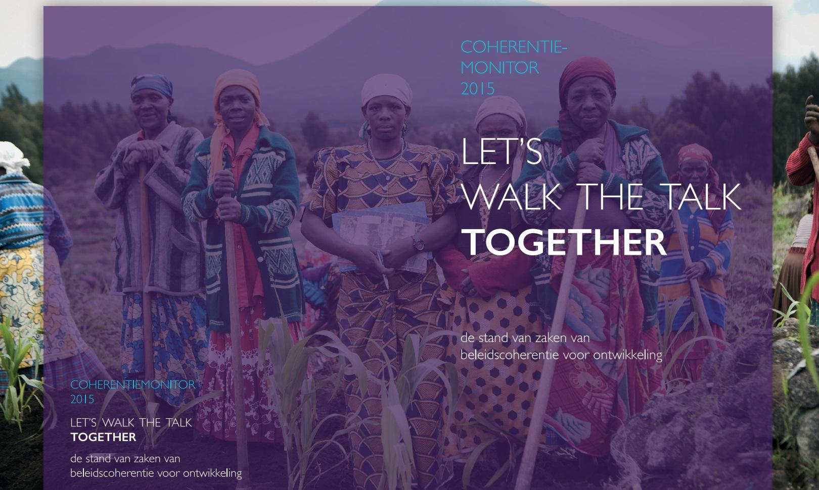 Partos rapport Let's Walk the Talk Together; de stand van zaken van beleidscoherentie voor ontwikkeling