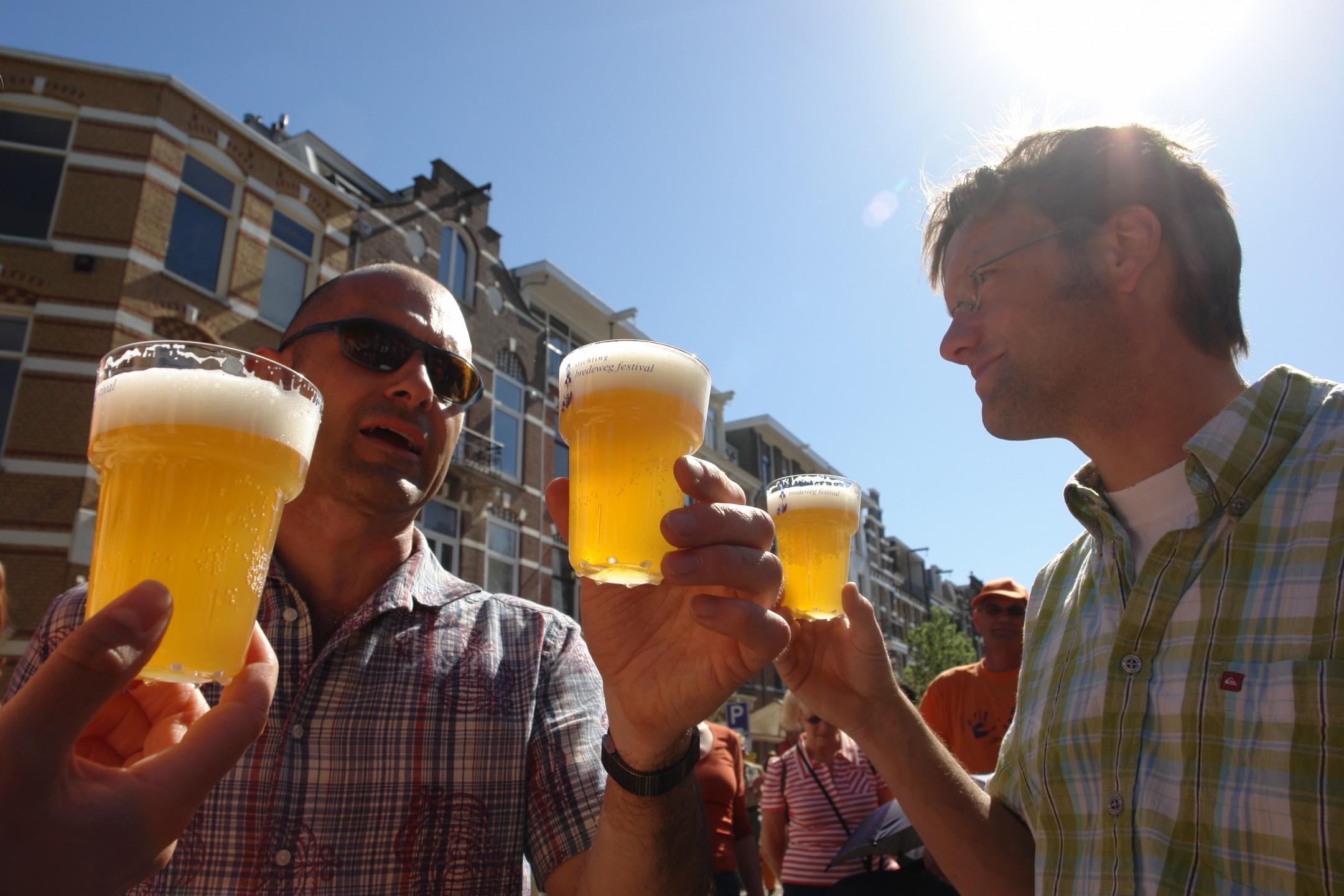 Bier tijdens Koningsdag