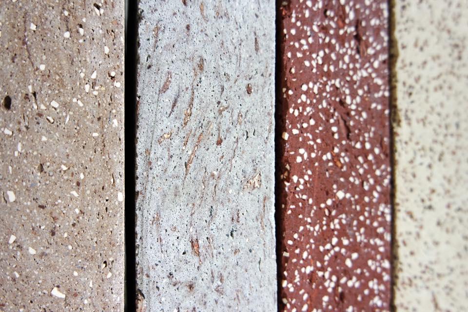 Duurzame bakstenen gemaakt uit bouwpuin. Foto: StoneCycling