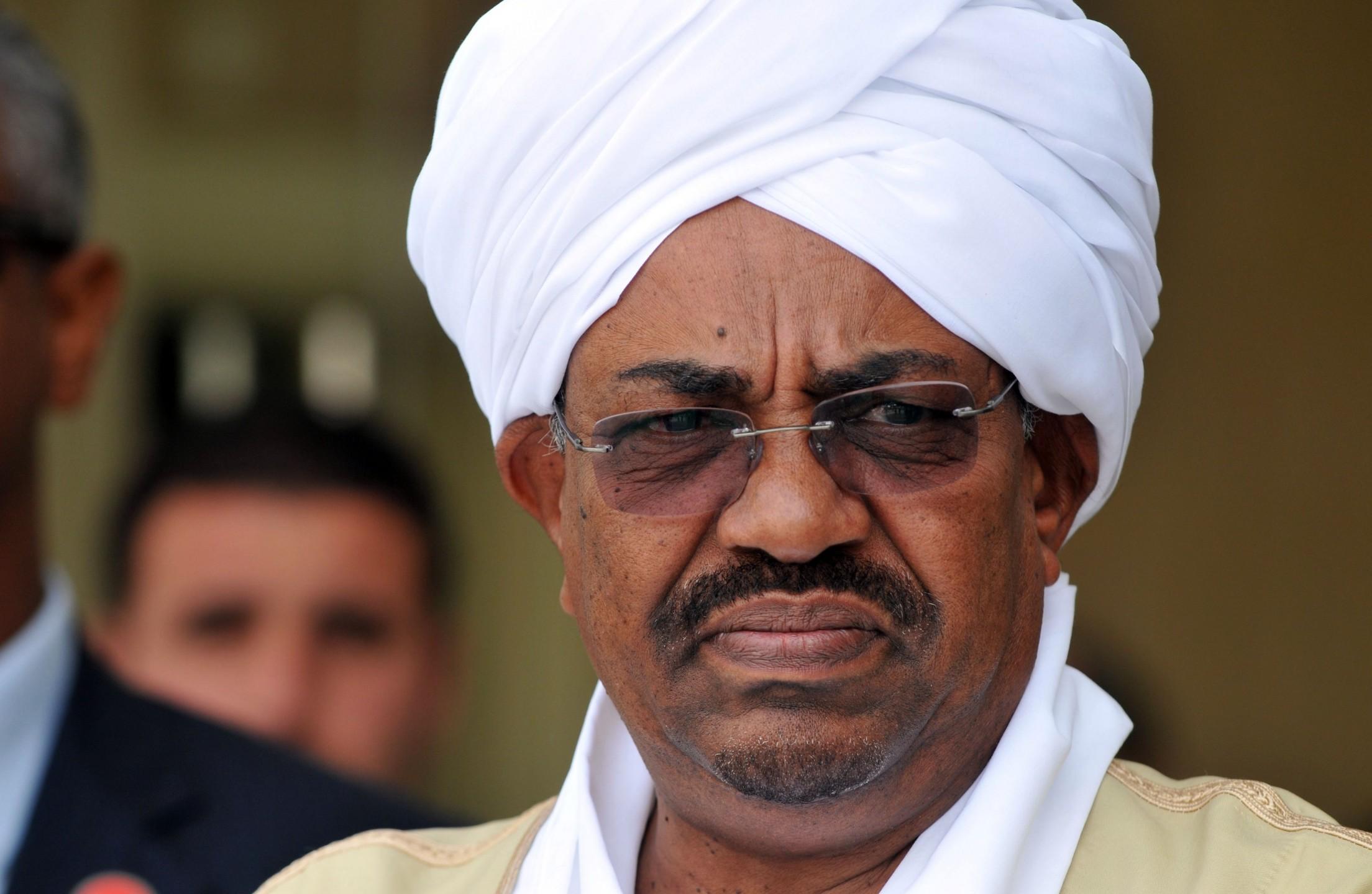 Bashir president van Soedan wordt niet uitgeleverd aan het International Criminal Court in Den Haag