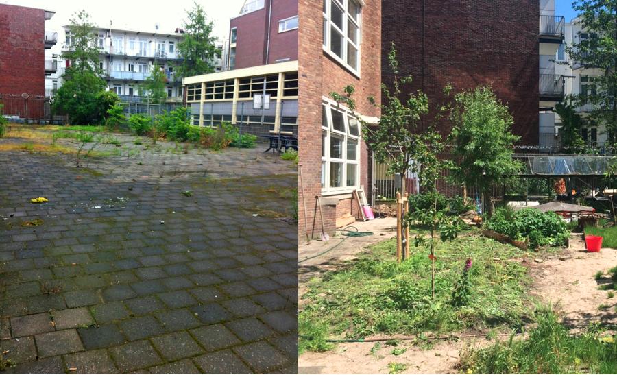 de tuin van midwest voor en na