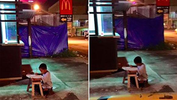 Studerende Daniel op de Filipijnen