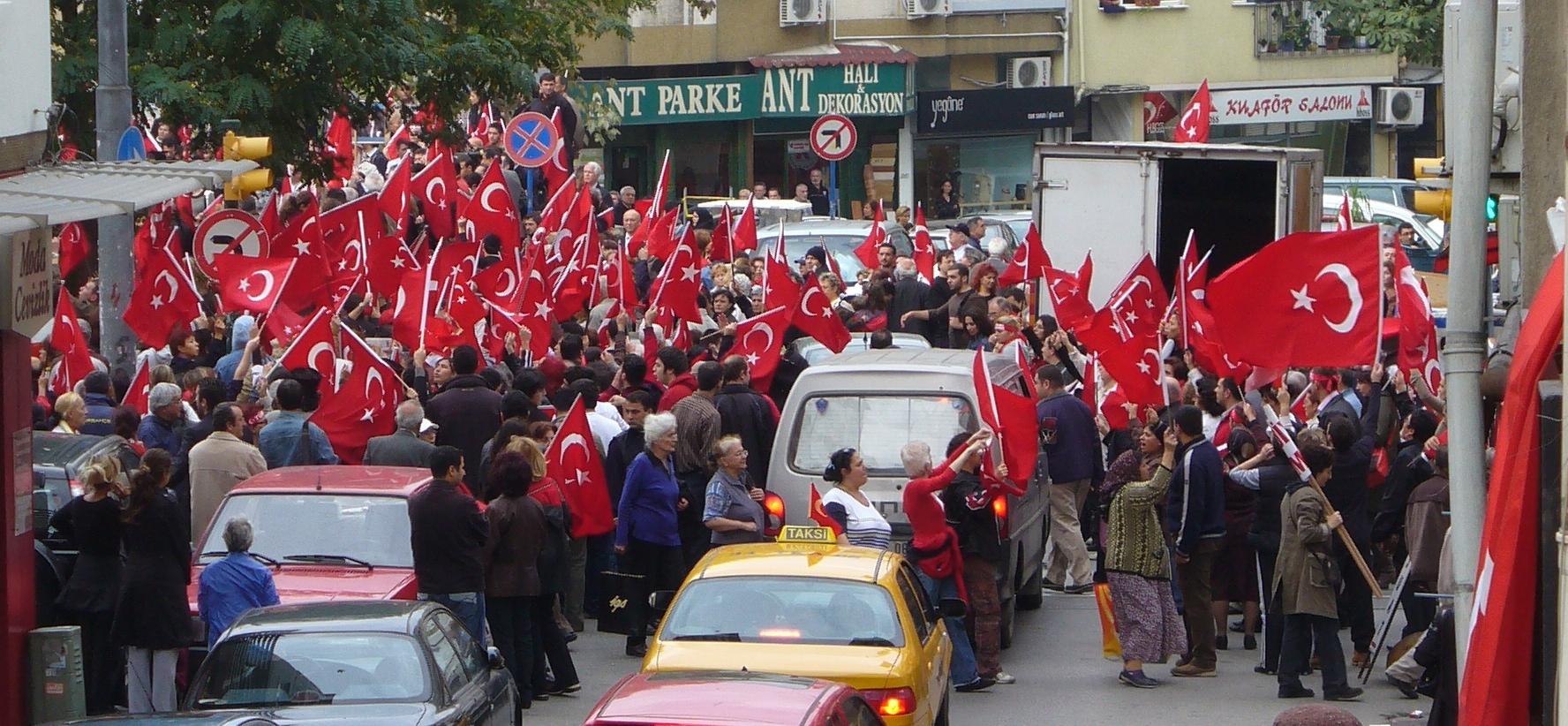 Protesten in Turkije tegen de Koerden