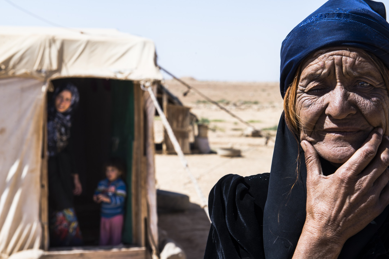 Syrische vluchtelingen in Jordanië