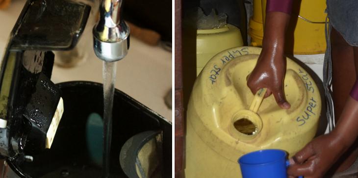 water halen in nederland en in kenia