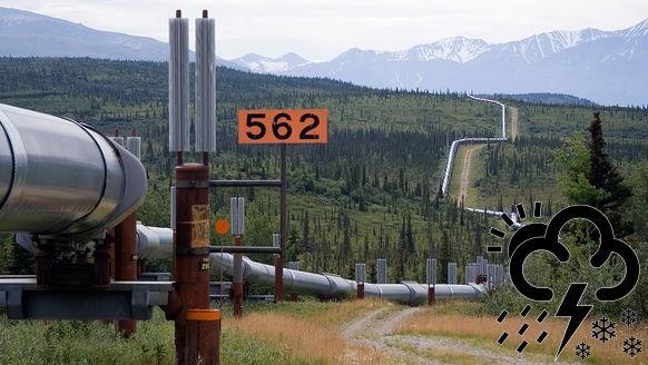 Oliepijpleiding in Alaska
