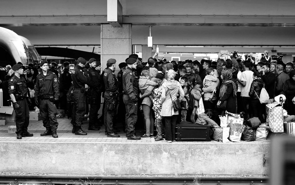 Vluchtelingen in Wenen. Flickr (cc): Josh Zakery