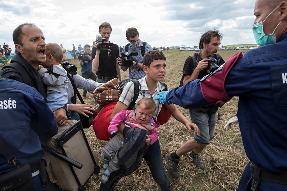 Vluchtelingen en journalisten, Hongarije, Reuters