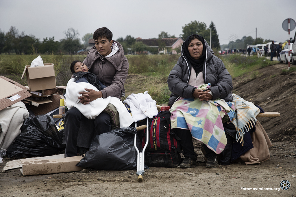 Asielzoekers in Bapska, Kroatië. Beeld: Flickr/Fotomovimiento (cc)
