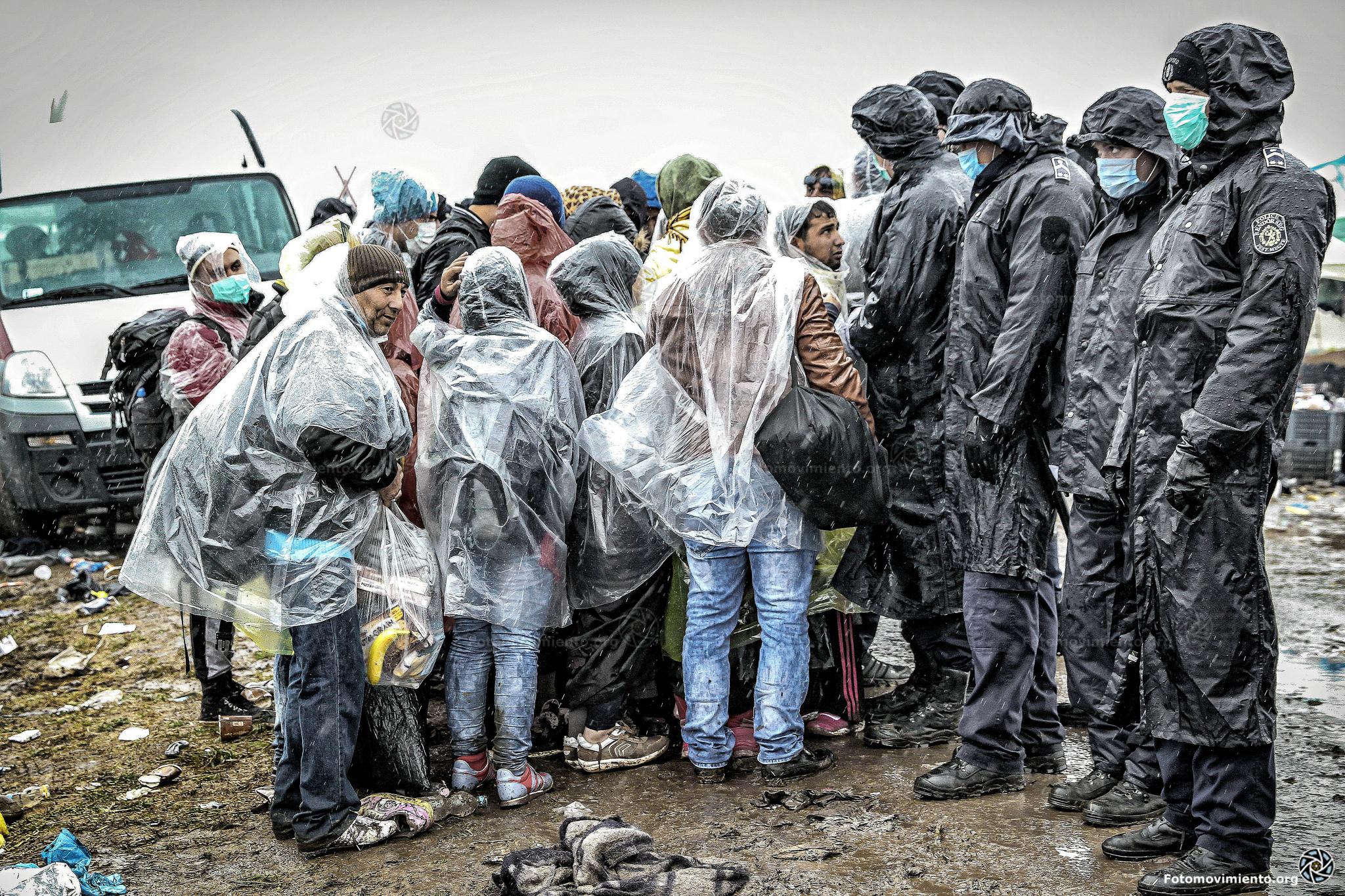 Asielzoekers rond de grens Servië en Hongarije. Beeld: Flickr/Fotomovimiento (cc)