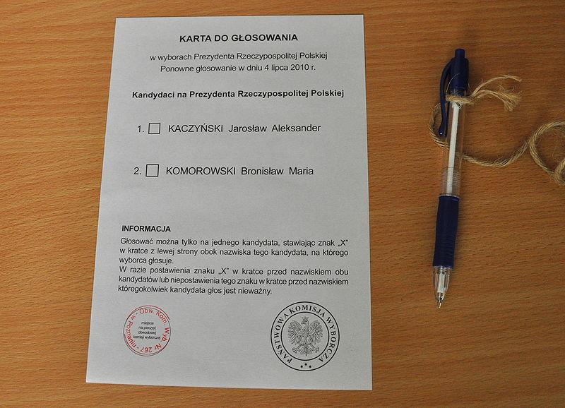 Pools stembiljet, 2010
