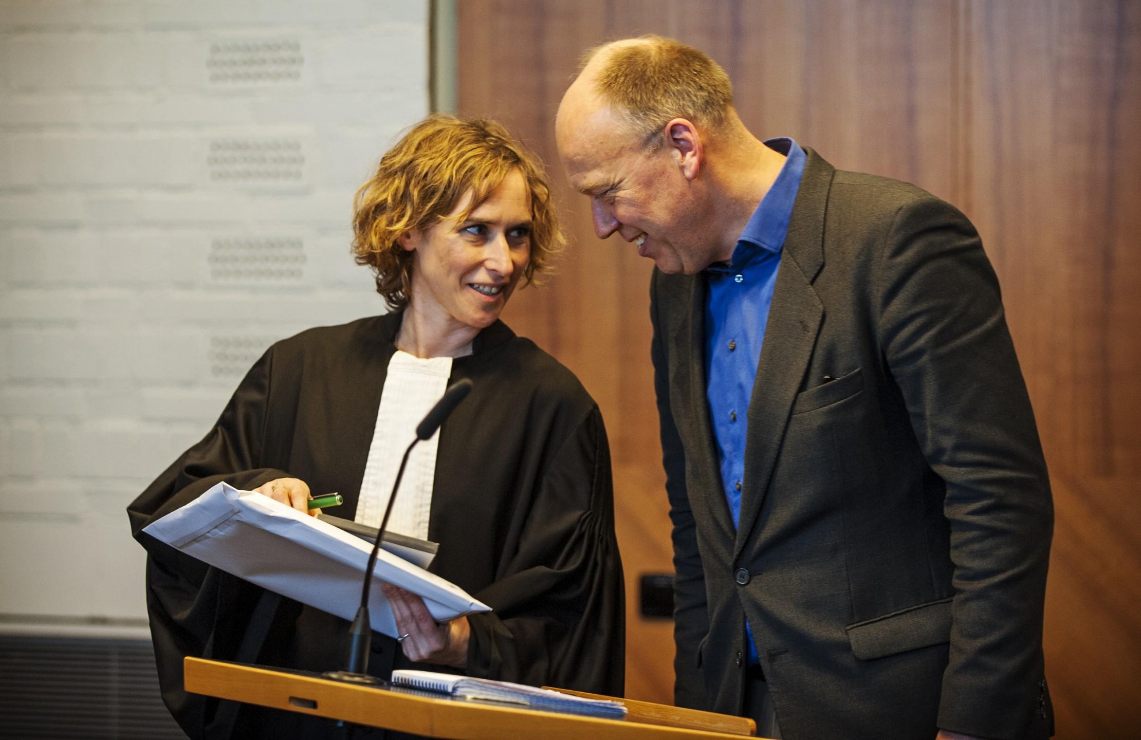 Channa Samkalden en Geert Ritsema van Milieudefensie voeren al zeven jaar een rechtszaak tegen Shell