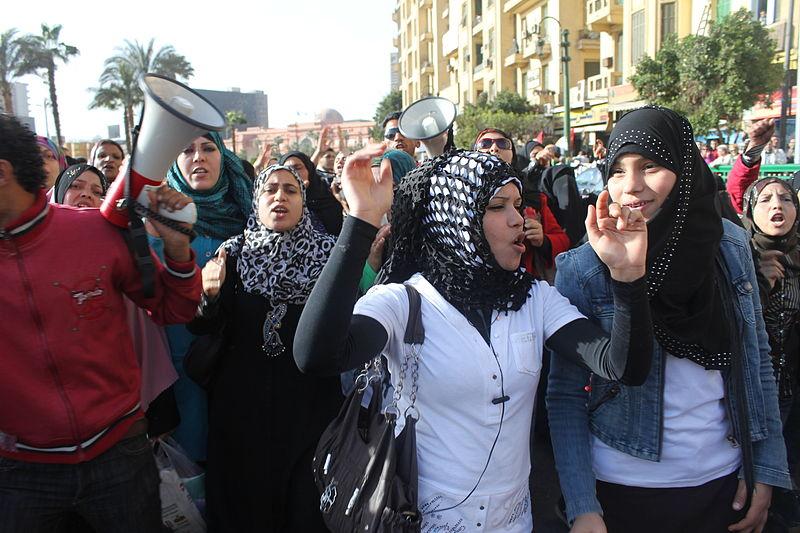 Women's rights protest Egypt, vrouwenrechtenprotest Egypte