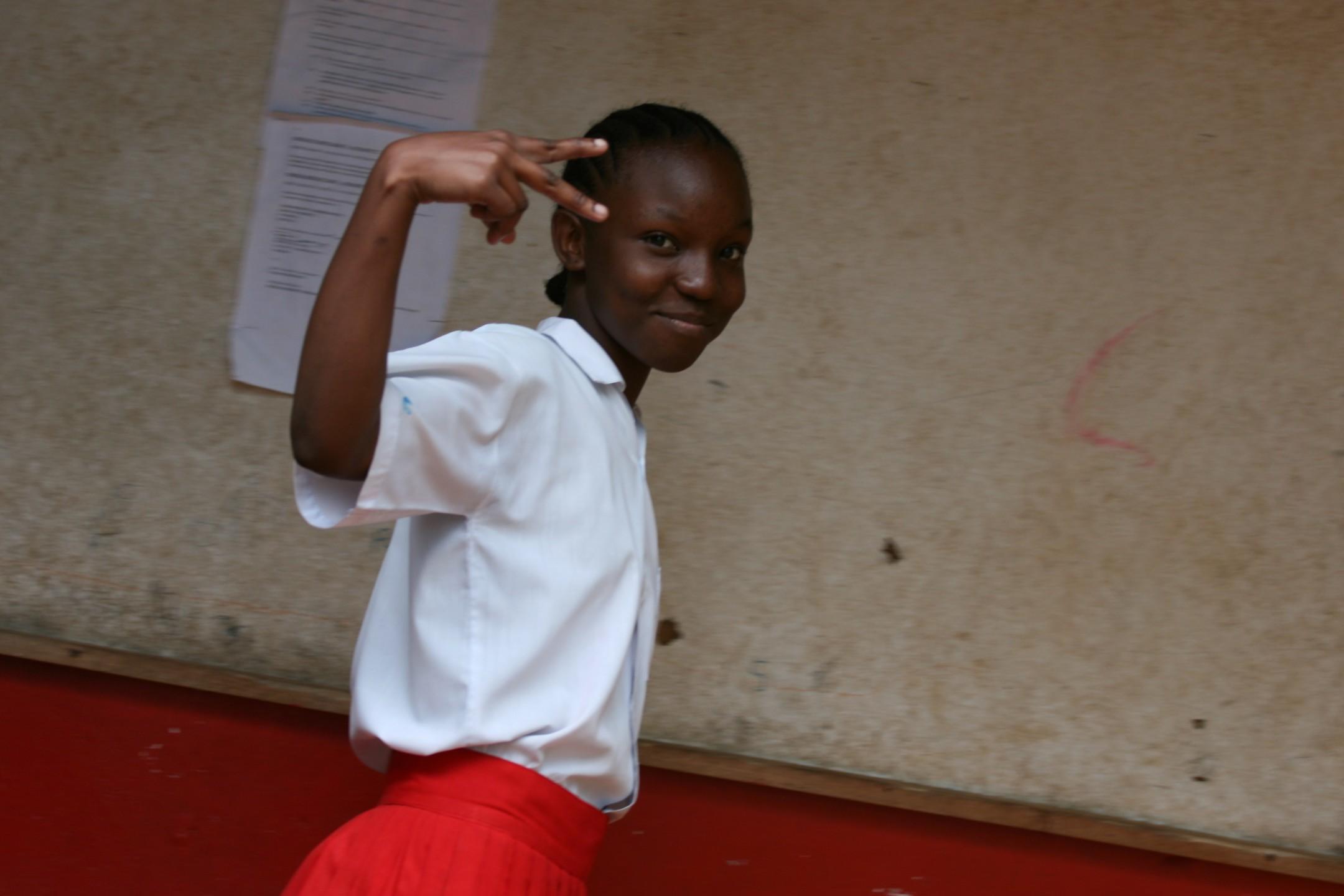 Keniaans schoolmeisje