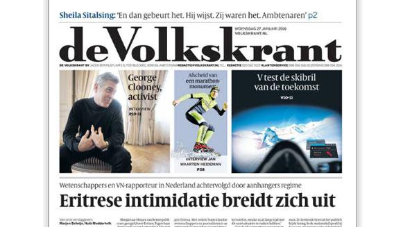 De cover van de Volkskrant van 27 januari 2016