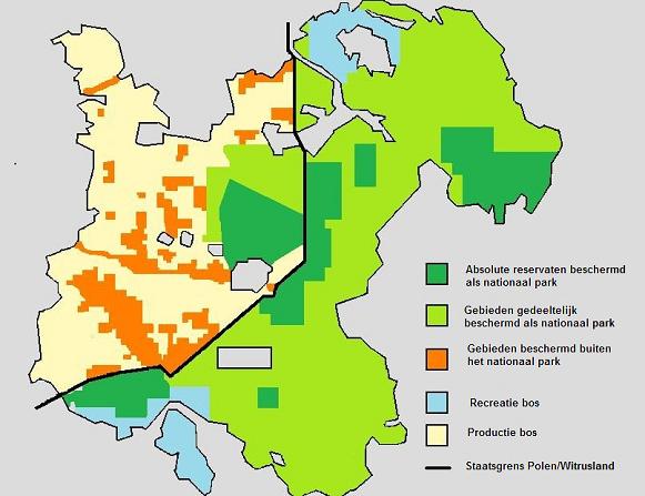 Kaart-reservaten-Bialowieza