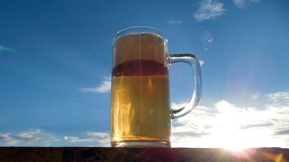 bier in de zon
