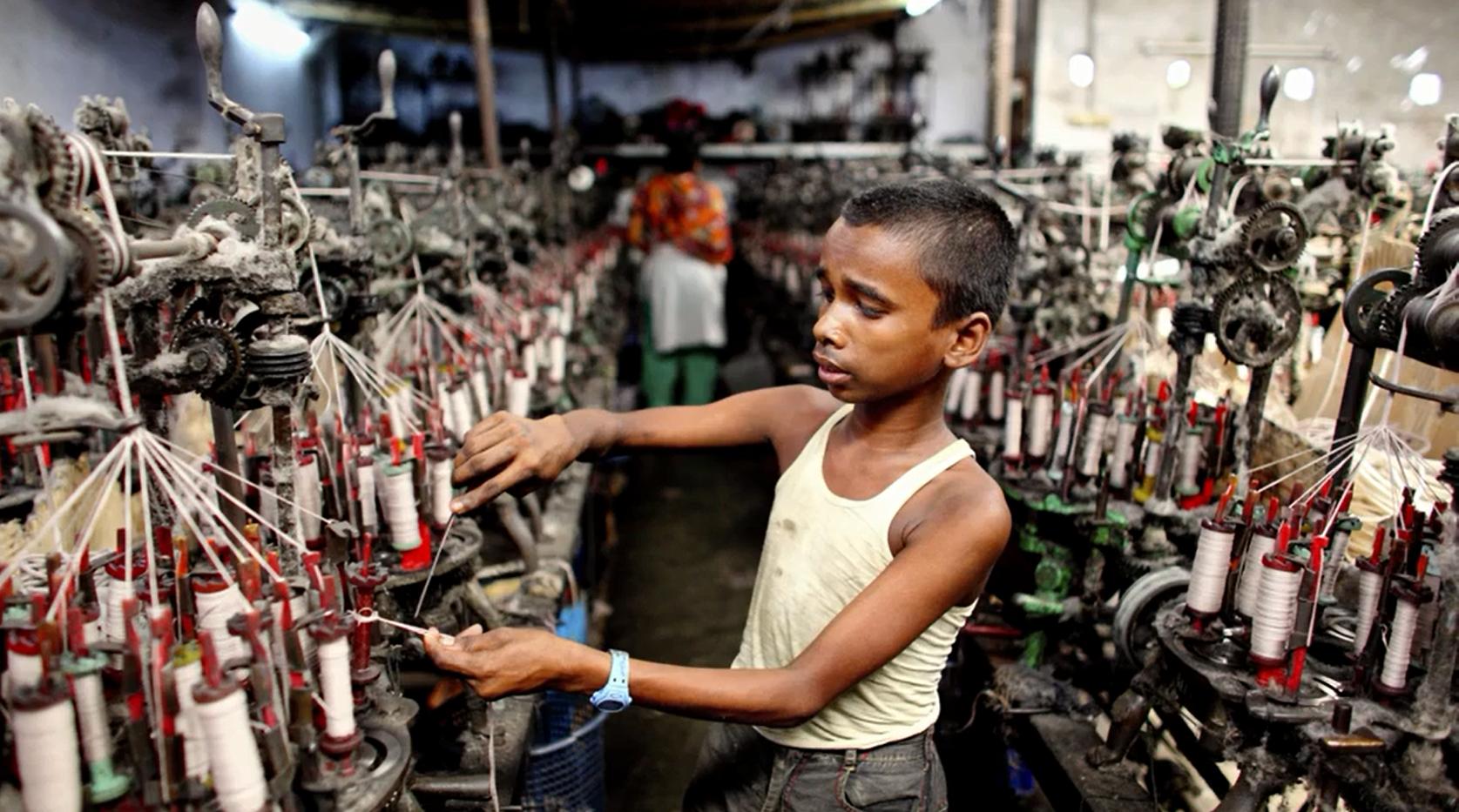 kinderarbeid in kledingfabriek