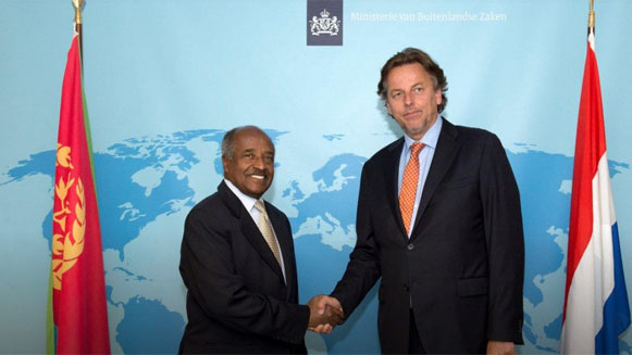 Ontmoeting tussen Bert Koenders en Osman Saleh van Eritrea
