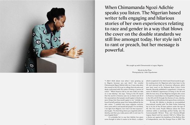 chimamanda Ngozi Adichie in Riposte magazine 2