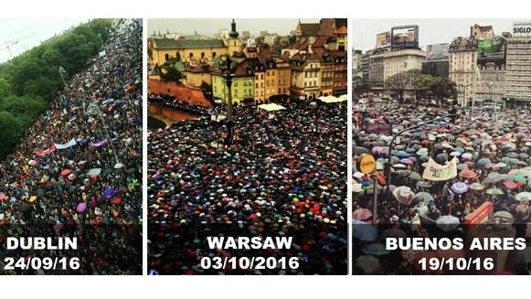 Protesten met parapluus