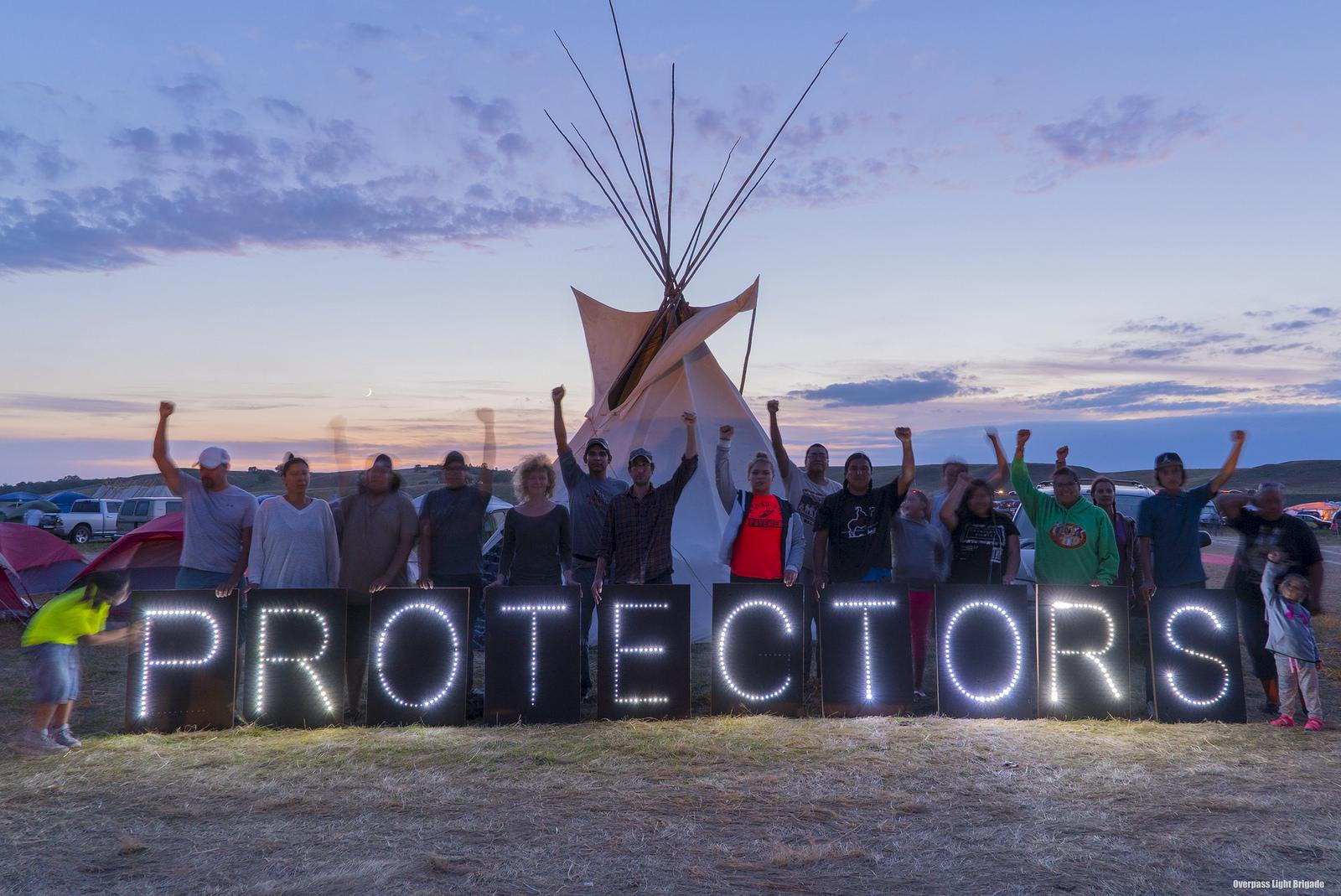 Standing Rock Sioux-stam tegen de komst een nieuwe oliepijpleiding