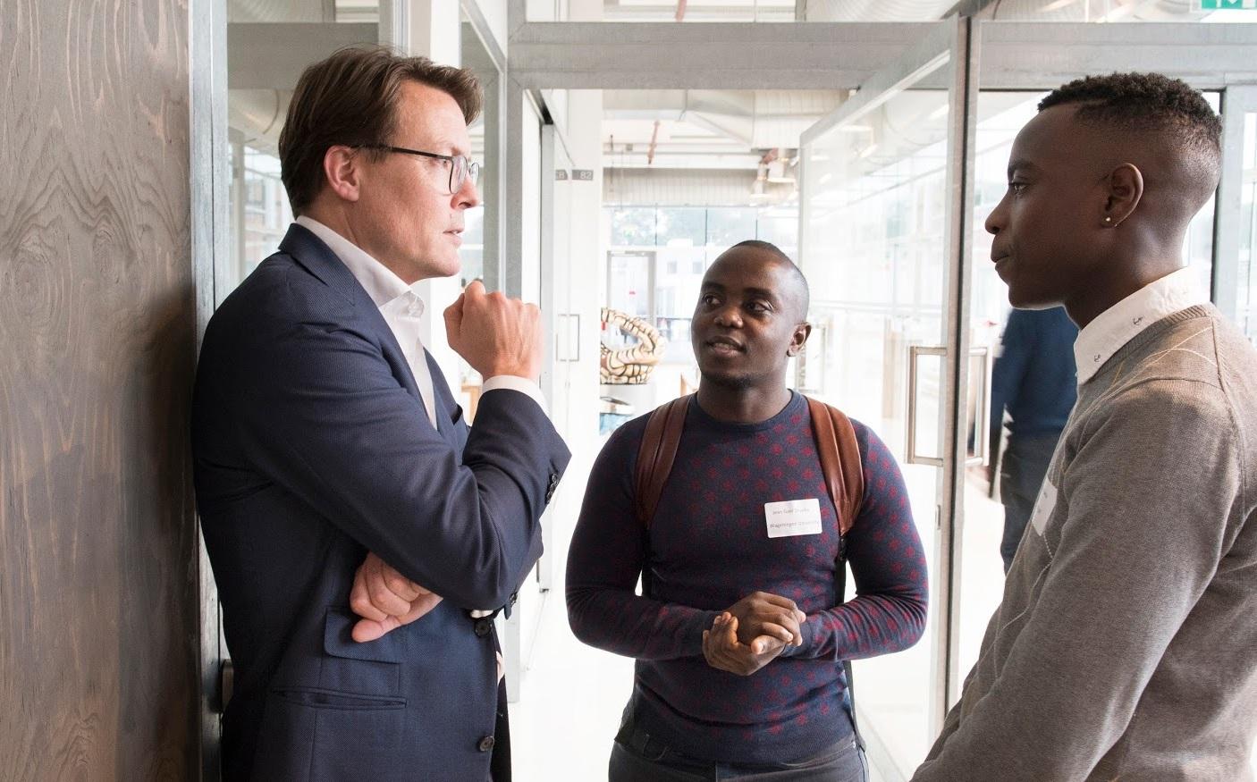Prins Constantijn in gesprek met start-ups